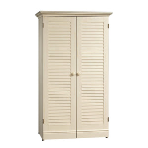 Great sauder 158097 harbor view craft armoire l 35 12 x w 21 81 x h 61 58 antiqued white finish