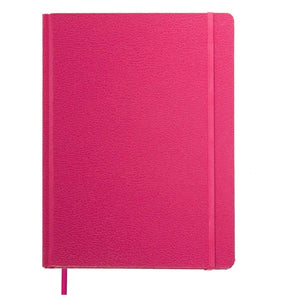 Select nice paper craft 4 pack 8 5 x 5 5 leatherette lined writing journals wide ruled banded notebook with ribbon bookmark pink a5 size