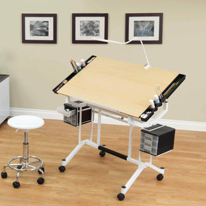 Great studio designs pro craft station in white with maple 13245