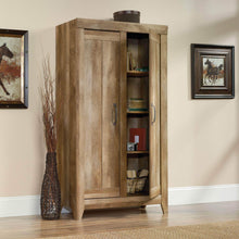 Load image into Gallery viewer, Discover the best sauder 418141 adept storage wide storage cabinet l 38 94 x w 16 77 x h 70 98 craftsman oak finish