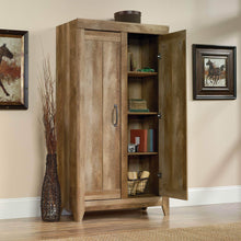 Load image into Gallery viewer, Discover the sauder 418141 adept storage wide storage cabinet l 38 94 x w 16 77 x h 70 98 craftsman oak finish