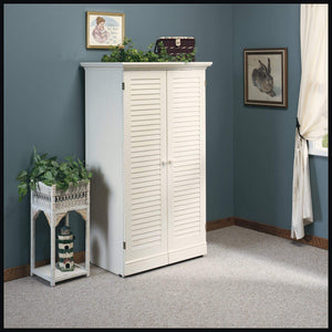 New sauder 158097 harbor view craft armoire l 35 12 x w 21 81 x h 61 58 antiqued white finish