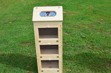Load image into Gallery viewer, Buy now amish handcrafted solid pine bread box and 3 door vegetable bin measures 16 5 l x 11 w x 43 5 h handcrafted by the old order amish craftmen locally in the heart of ohio this bread box with vegetable bins has been sanded to a fine finish and is ready