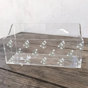 Shabby Chic Storage - Crystal Collection - Floral Organizer White Flower