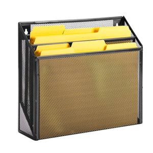Mesh Vertical File Sorter, Black
