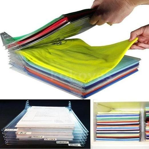 10 PCS Clothes Organizer Closet Office Desk File Cabinet Organizer