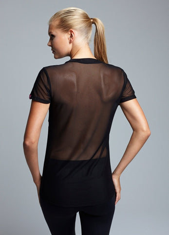 Full Mesh back tee-shirt