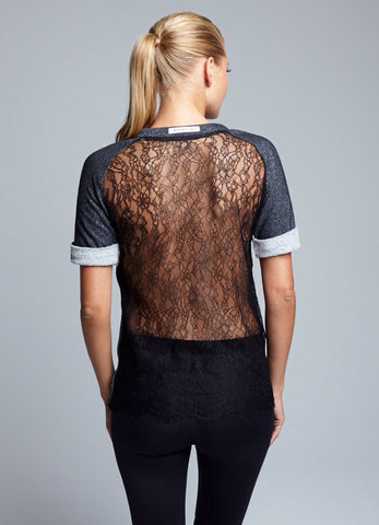Lace Back Sweatshirt