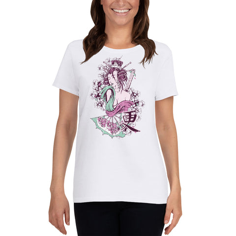 Geisha women's short sleeve t-shirt