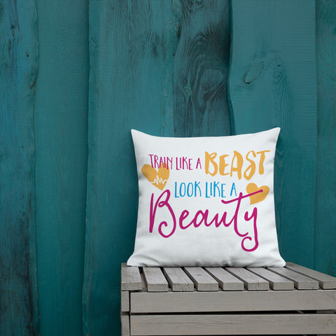 Beauty & Beast Premium Pillow