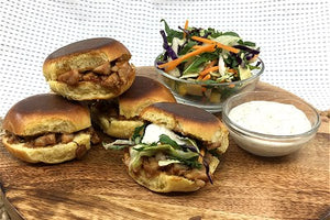Toasted Pork Brioche Sliders With Creamy Slaw