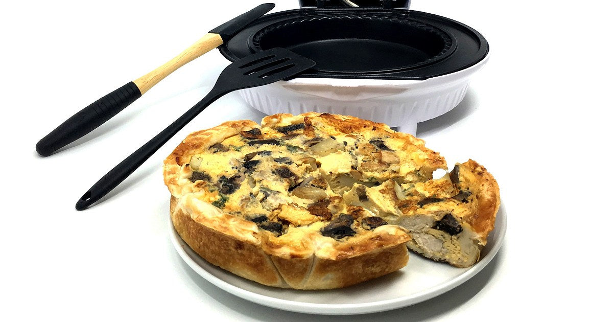Chicken & Mushroom Pie Maker Quiche Recipe