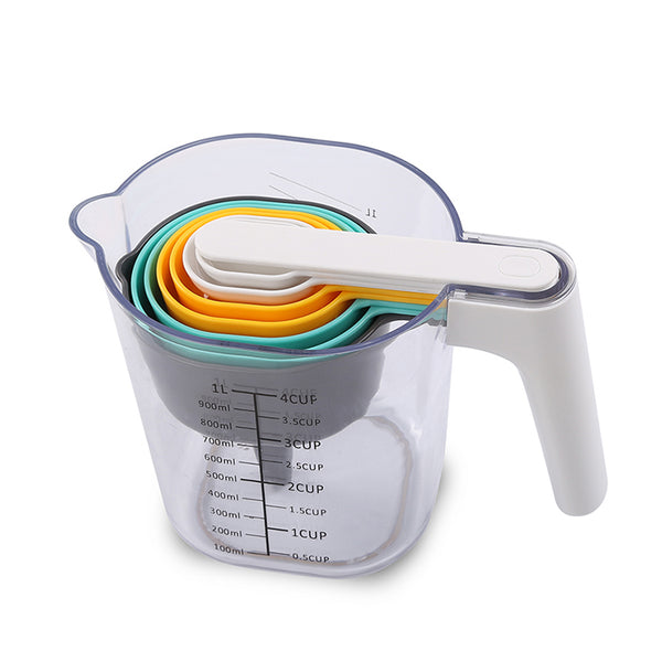 9 Piece Measuring Cups, Spoons And Jug Set With Funnel