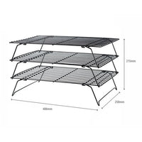 3 Tier Metal Cooling Rack - 400x250mm