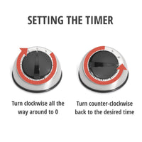 Stainless Steel Dome Mechanical Kitchen Timer