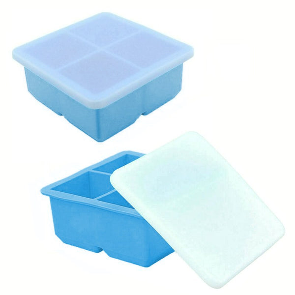 Silicone Pie Filling Freezer Tray With Cover - 4 Compartment