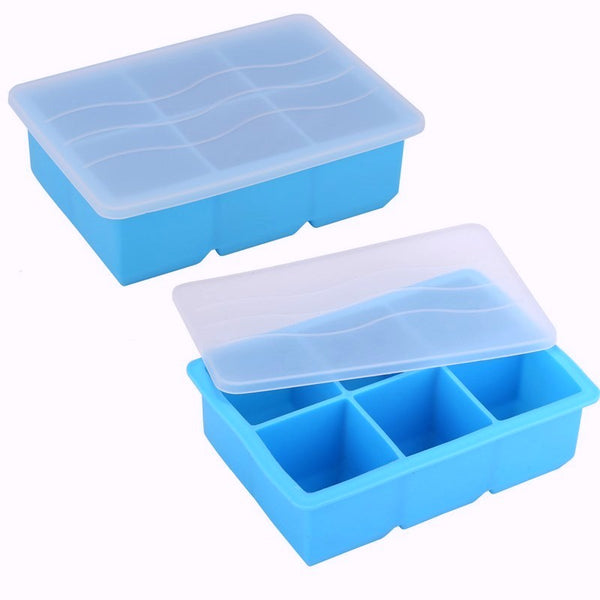 Silicone Pie Filling Freezer Tray With Cover - 6 Compartment