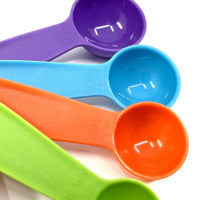 Plastic Measuring Spoon Set - 5 Piece Multi-Colour