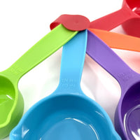 Plastic Measuring Cup Set - 5 Piece Multi-Colour