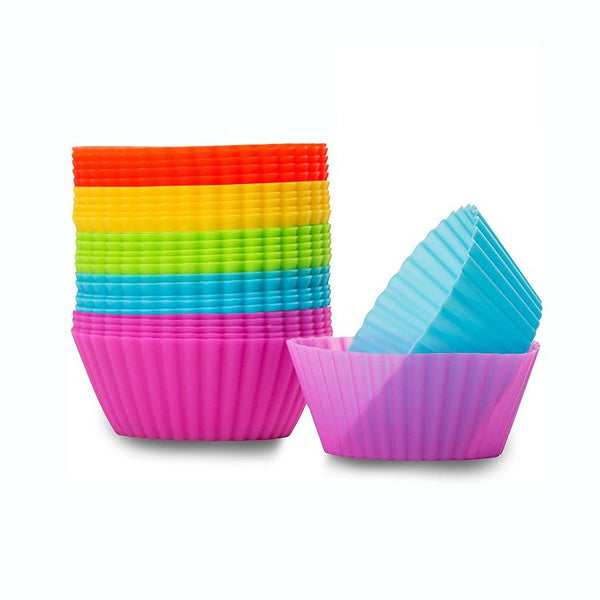 Silicone Cupcake Baking Cups - 24 Pack