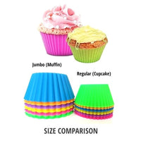 Premium Extra-Thick Silicone <br>Cupcake Baking Cups - 12 Pack
