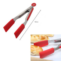 Small Flat Tongs - Silicone 18cm