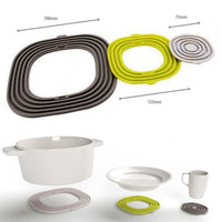 3 Piece Silicone Pot Holder Trivet