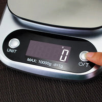 10kg Digital Kitchen Scales - Stainless Steel
