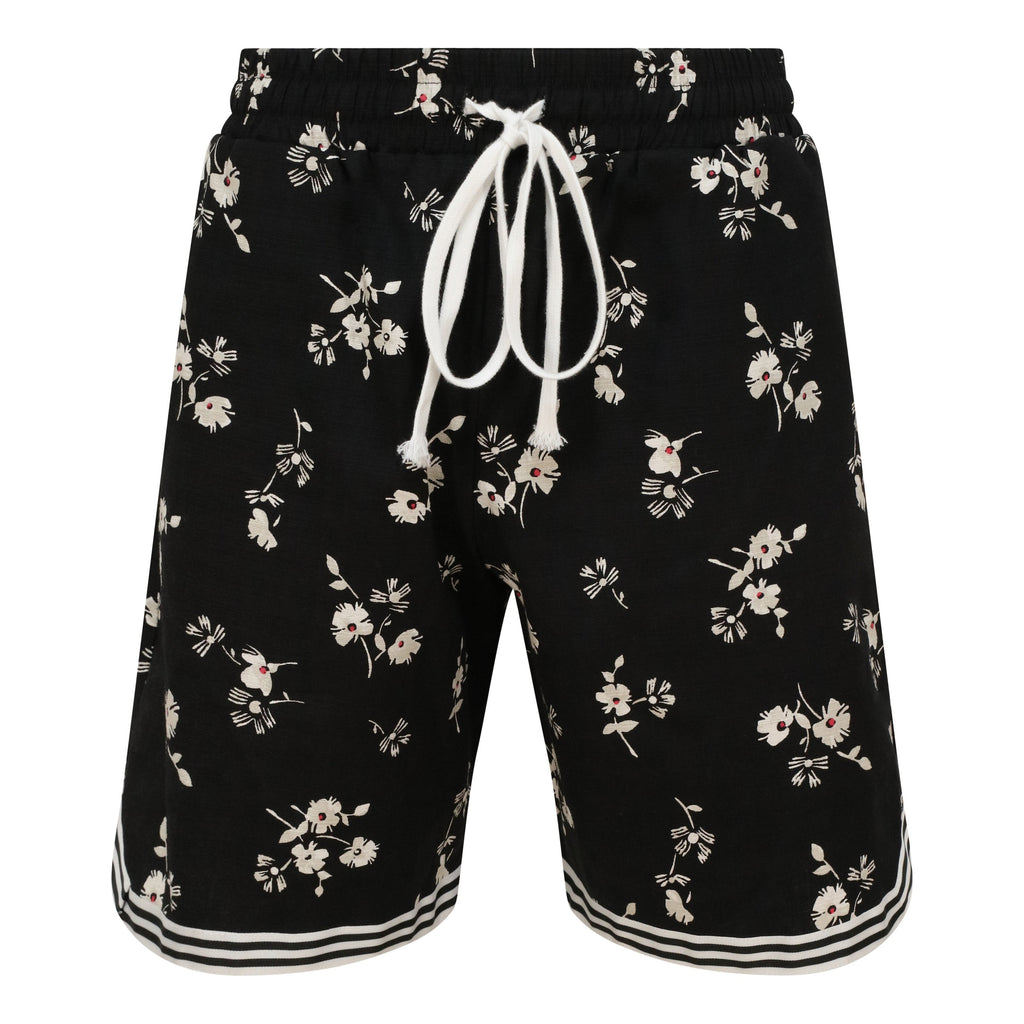 FLORAL PRINT  BASKETBALL  SHORTS