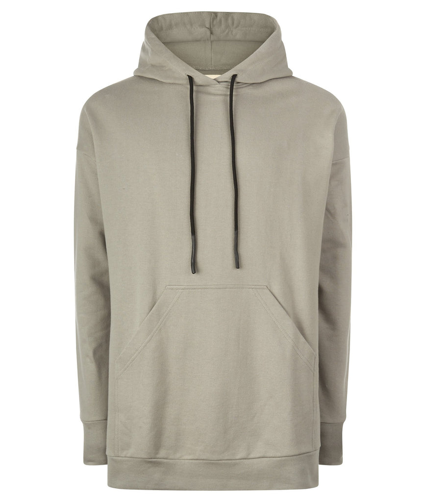 ESSENTIAL PULLOVER HOODY OLIVE GREY