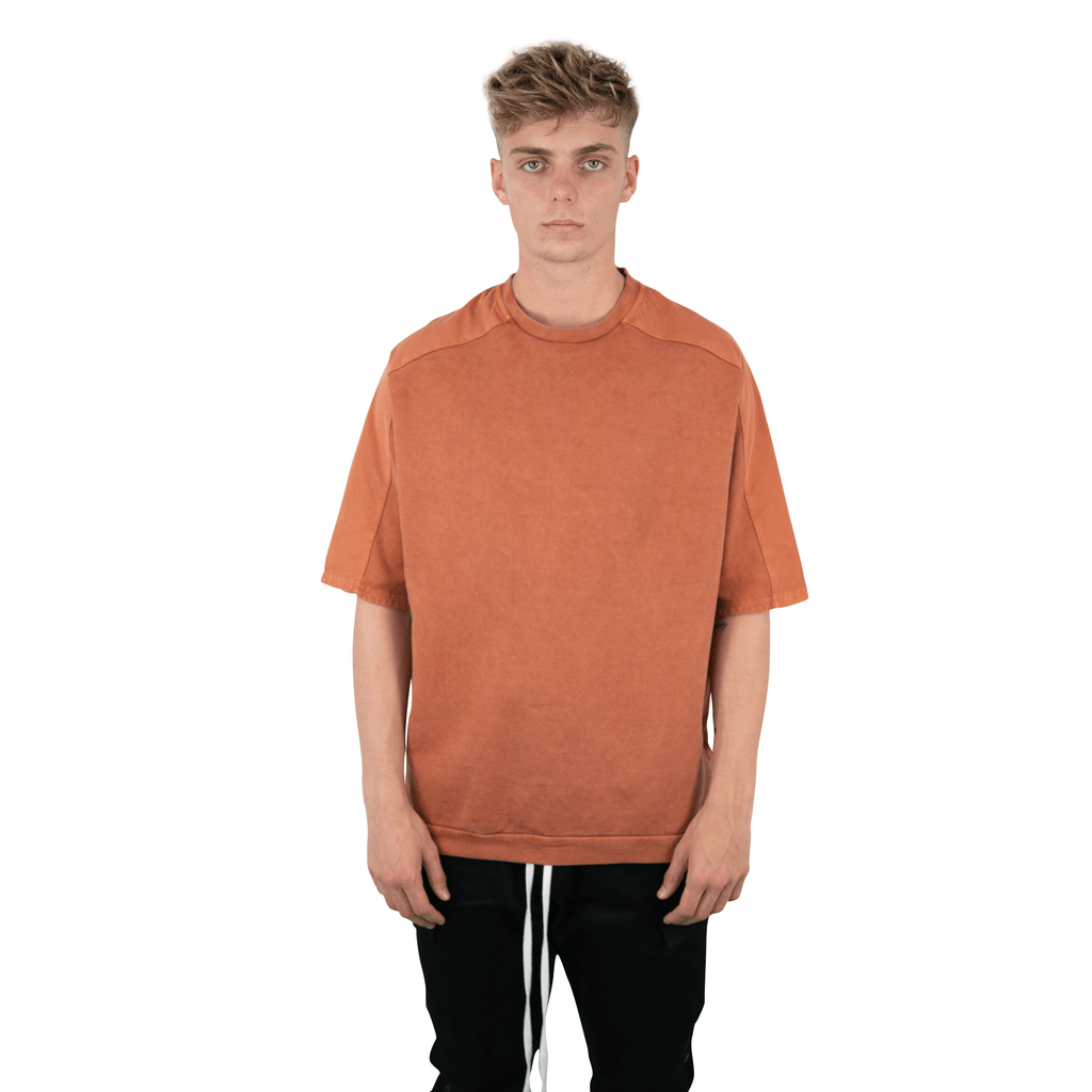 DROPPED SLEEVE TEE RUST