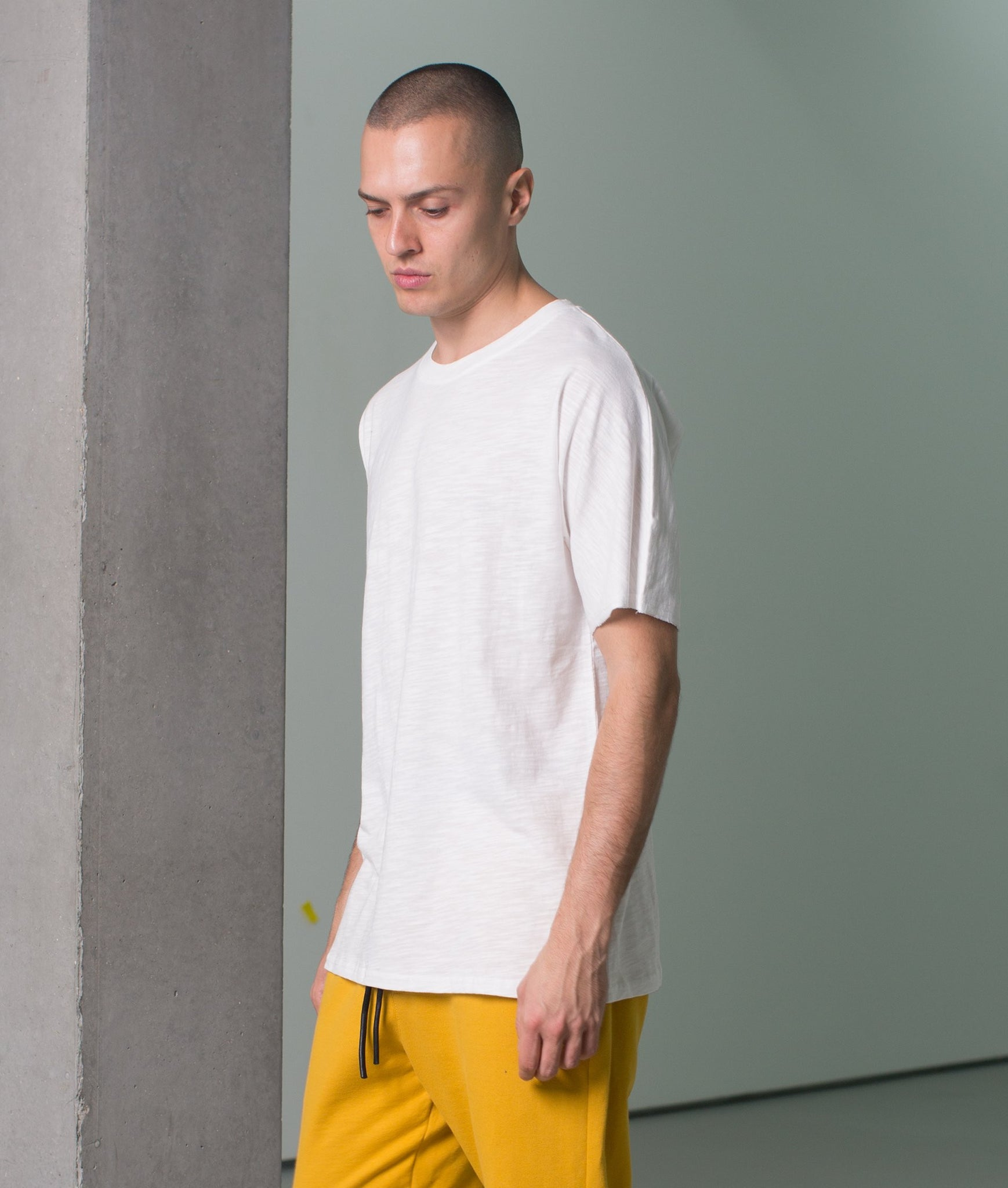MINERAL DROPPED SLEEVE TEE  IVORY
