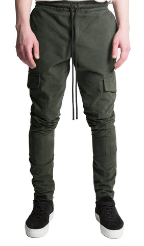 COMBAT ZIP JOGGER ARMY GREEN