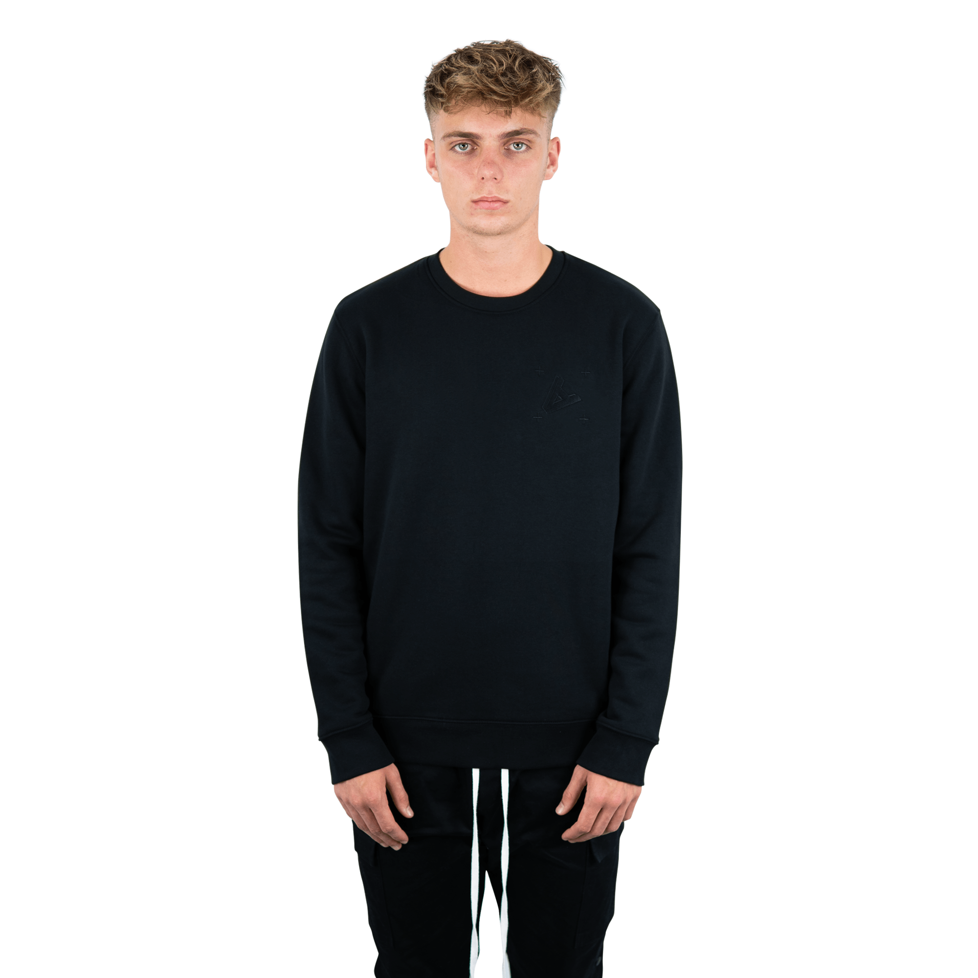 "ADYN ""Casting Shadows"" Collection - 'A' Embroidered Sweatshirt"