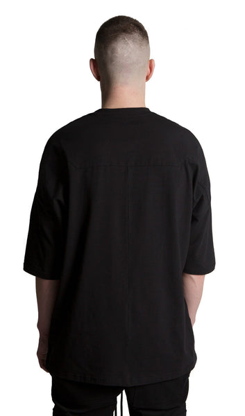DROPPED SHOULDER TEE BLACK