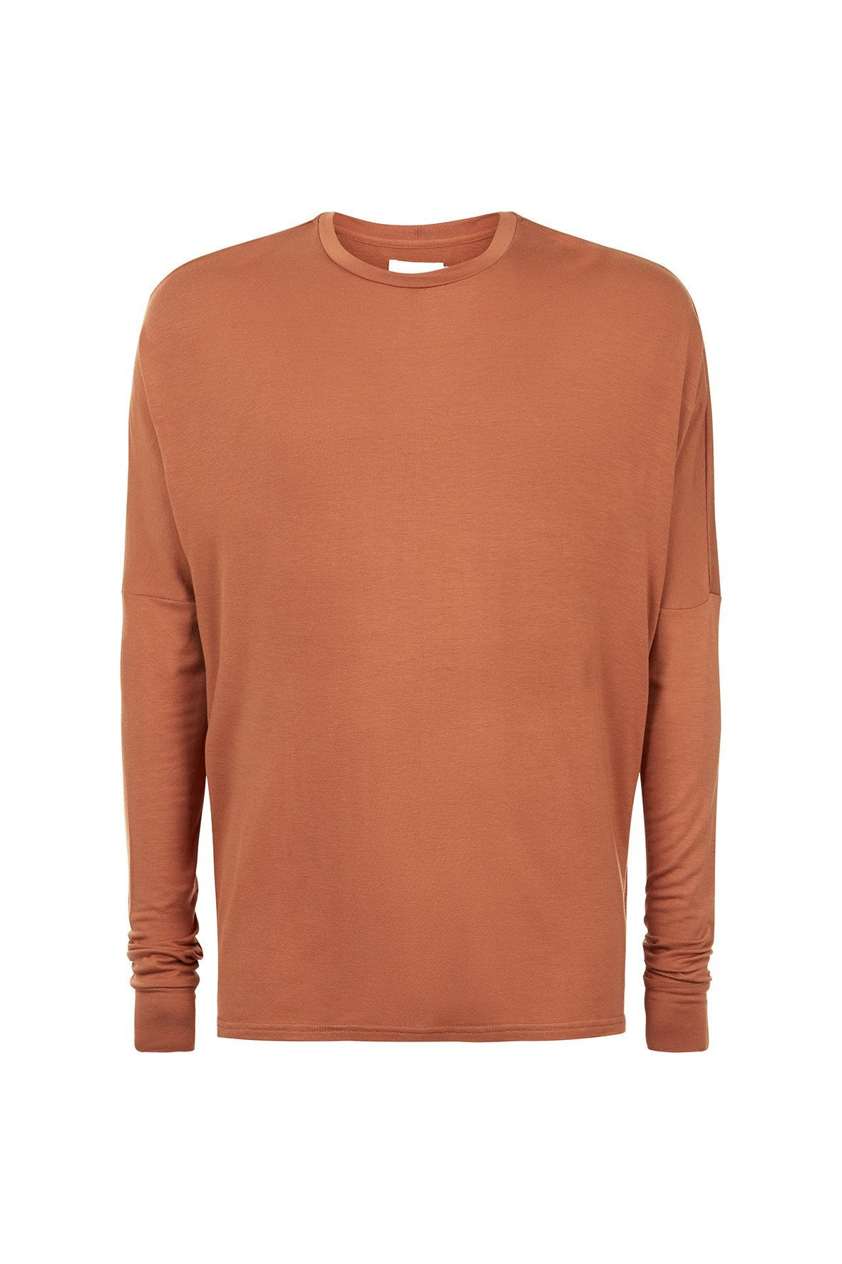 MINERAL DROPPED LONG SLEEVE TEE AMBER