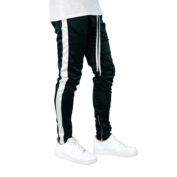 RESORT SATIN ZIP JOGGER GREEN