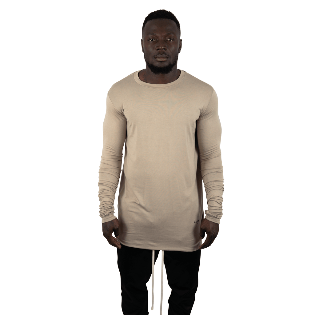 MINERAL DROPPED LONG SLEEVE TEE OAT