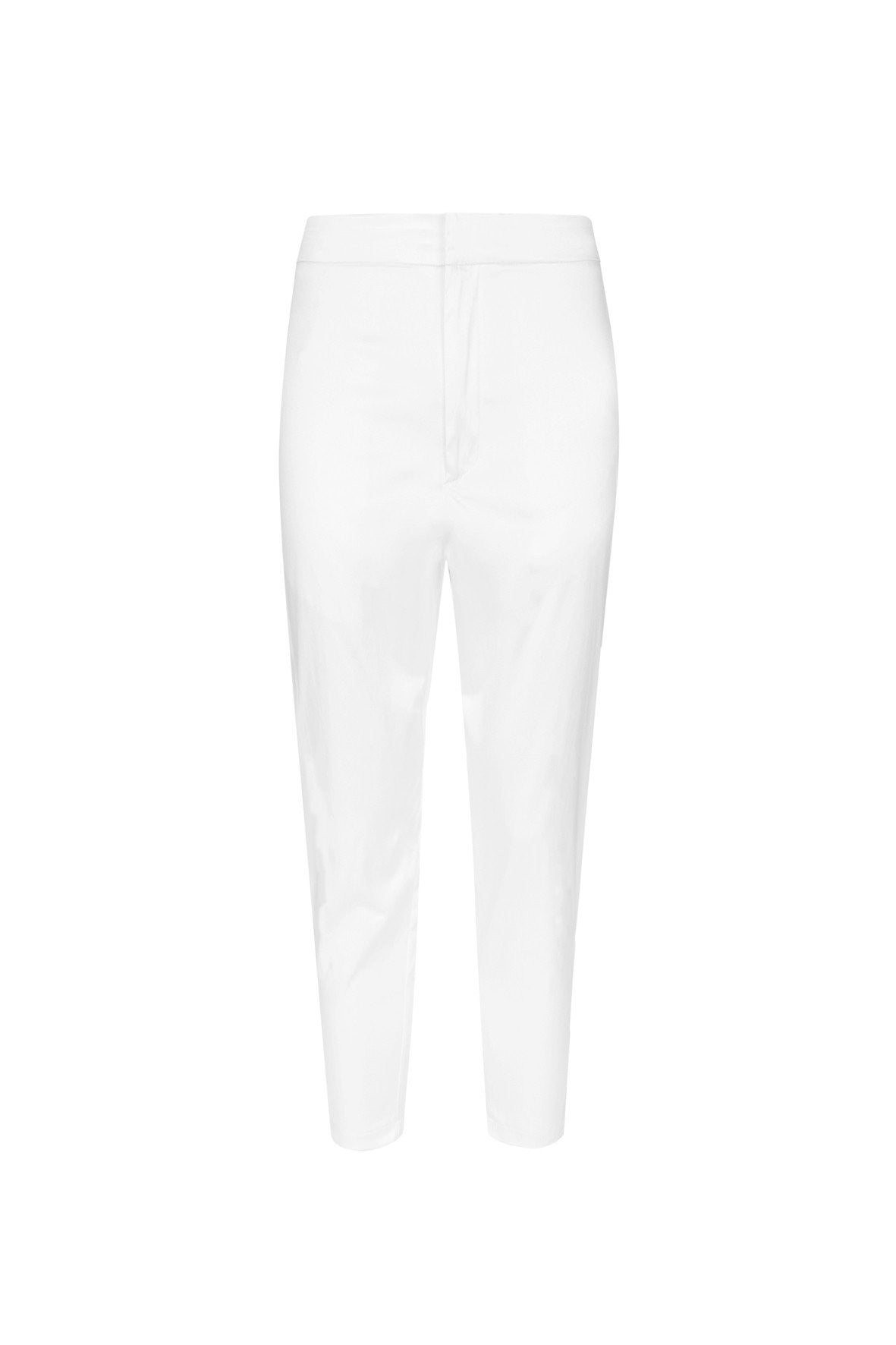 RESORT SATIN CROPPED TROUSER WHITE