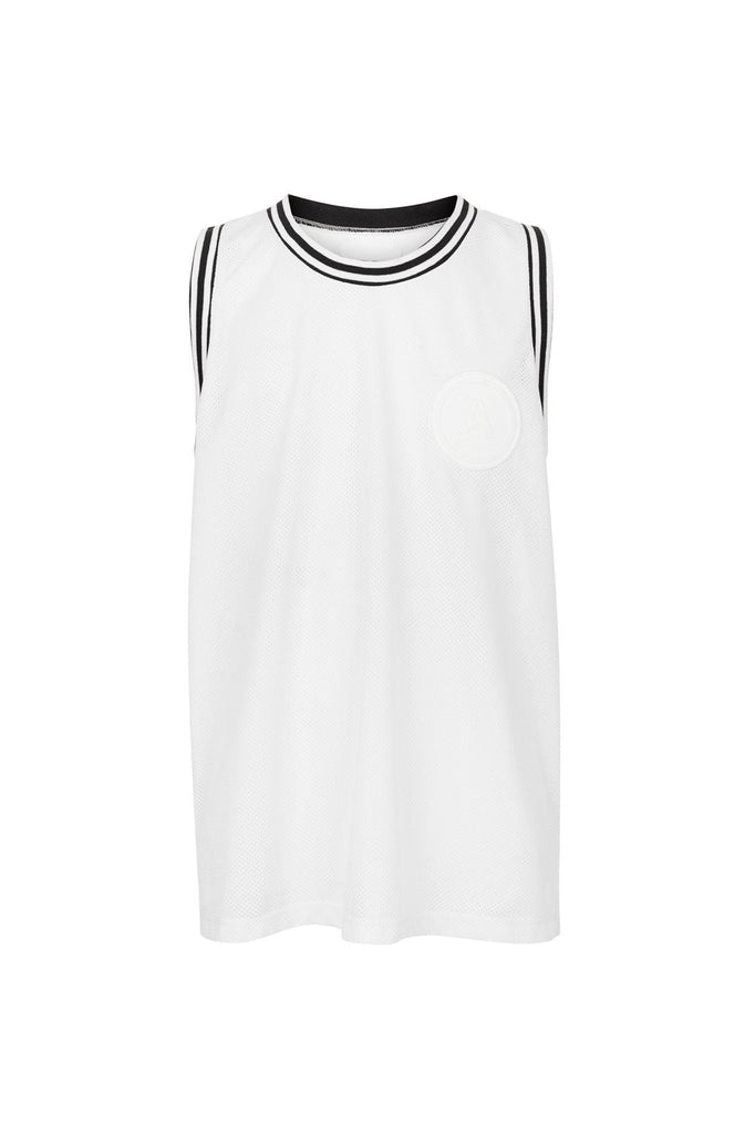 resort airtex basketball jersey white