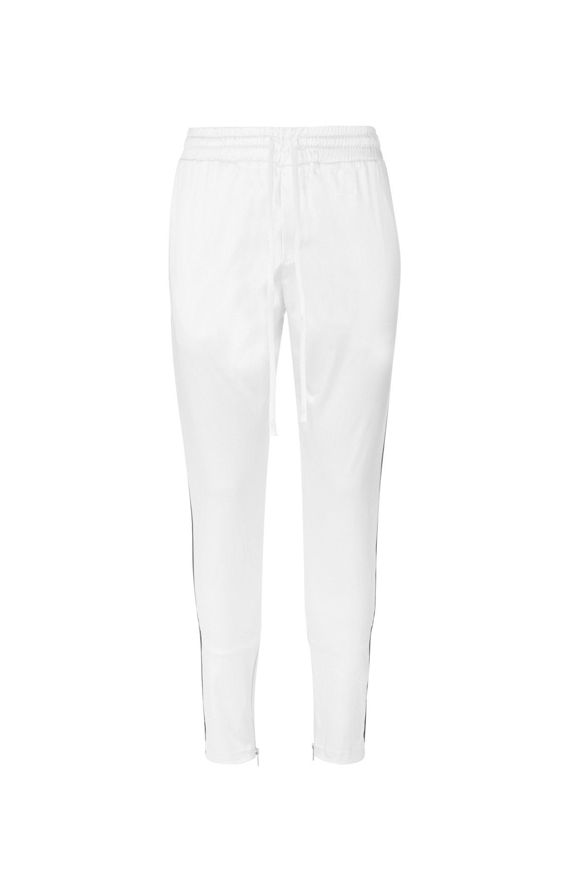 RESORT SATIN ZIP JOGGER WHITE