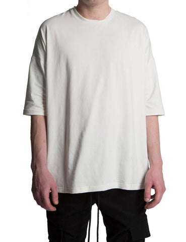 DROPPED SHOULDER TEE WHITE