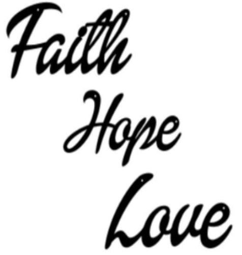 Faith Hope Love 3D letters