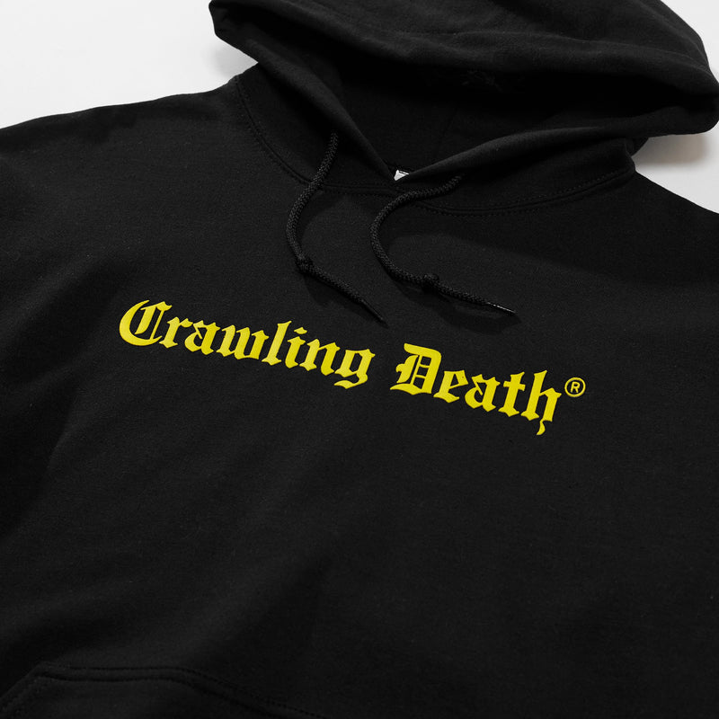 Gothic Logo Hood - Black/Yellow