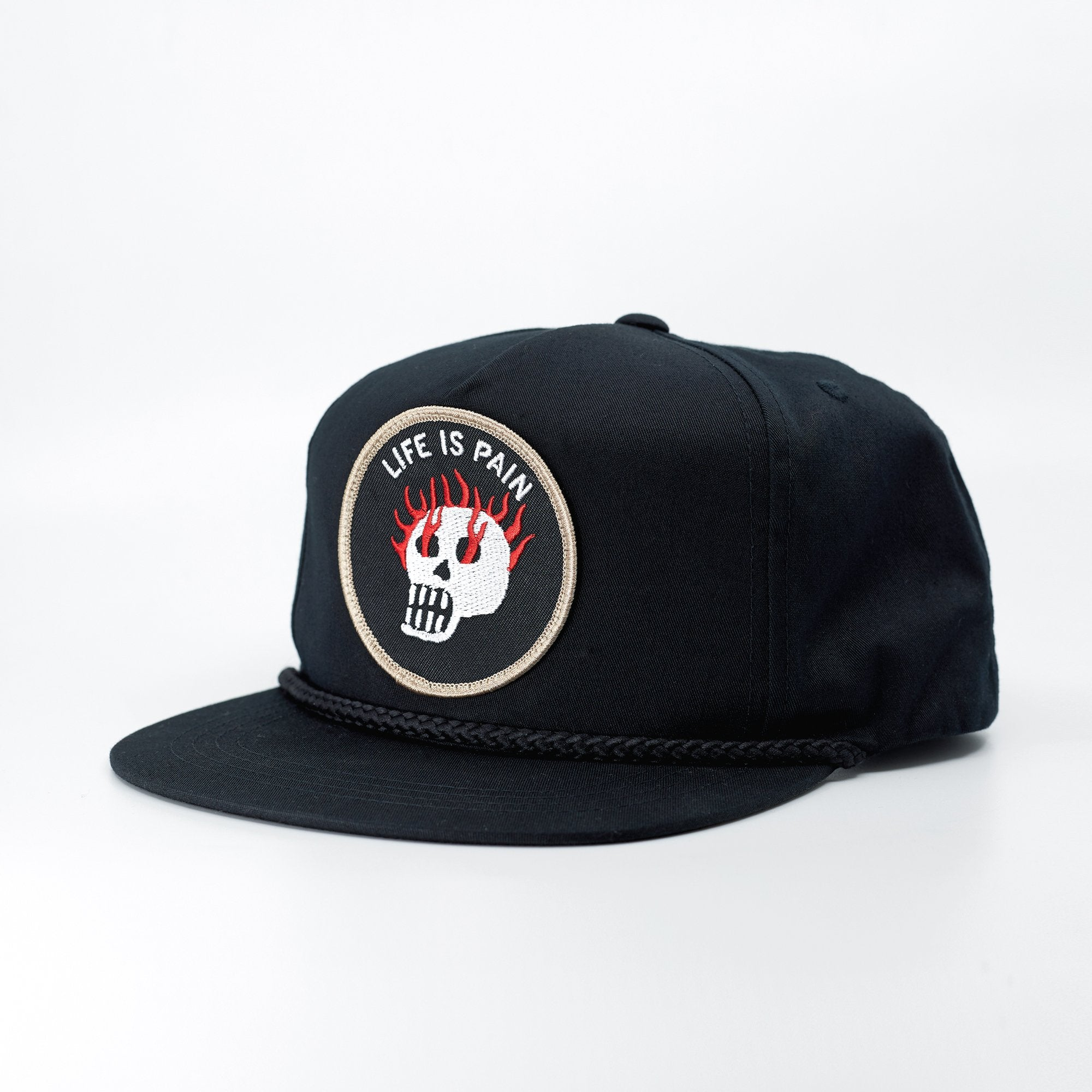 Life Is Pain Hat - Black