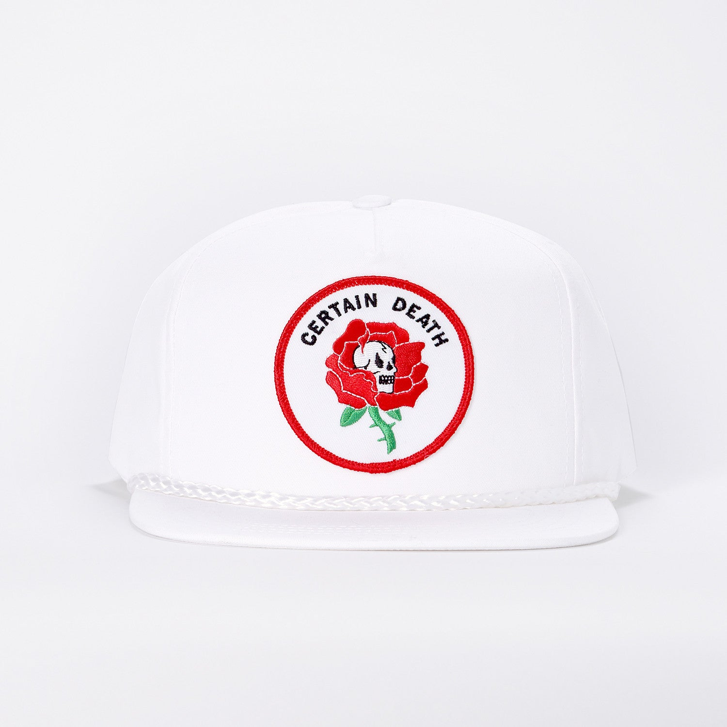 Certain Death Rose Hat - White