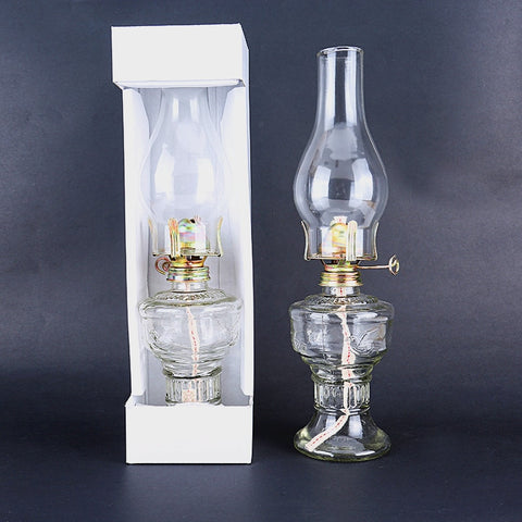 32cm Glass Kerosene Lanterns Oil Lamp Glass Classic Retro Family Decorative Lights
