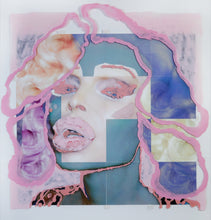 "Load image into Gallery viewer, Pink Amanda  40"" x 40"""