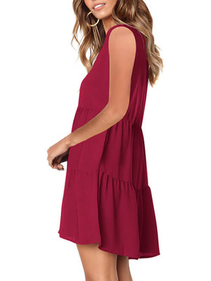womens burgundy loose dress