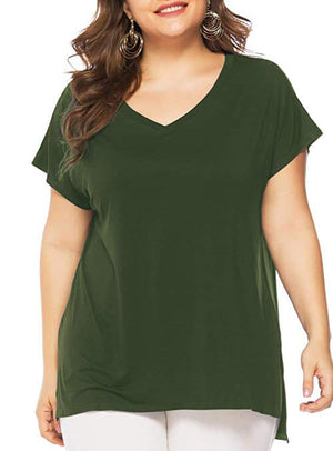army green tops for women
